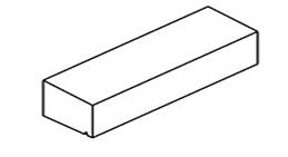 10/12×15 Sålbænk Glat Beton